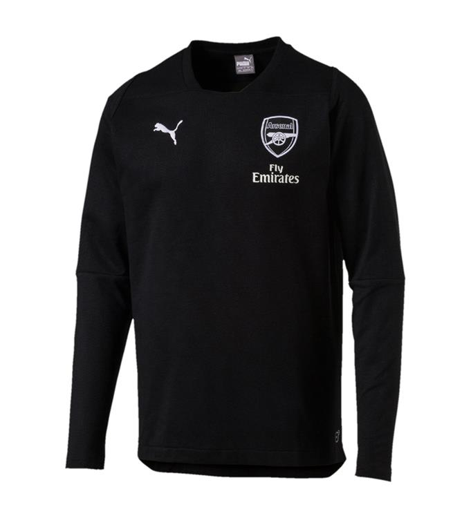 Puma Arsenal FC CASUAL Performance Crew Neck Sweater with sponsor
