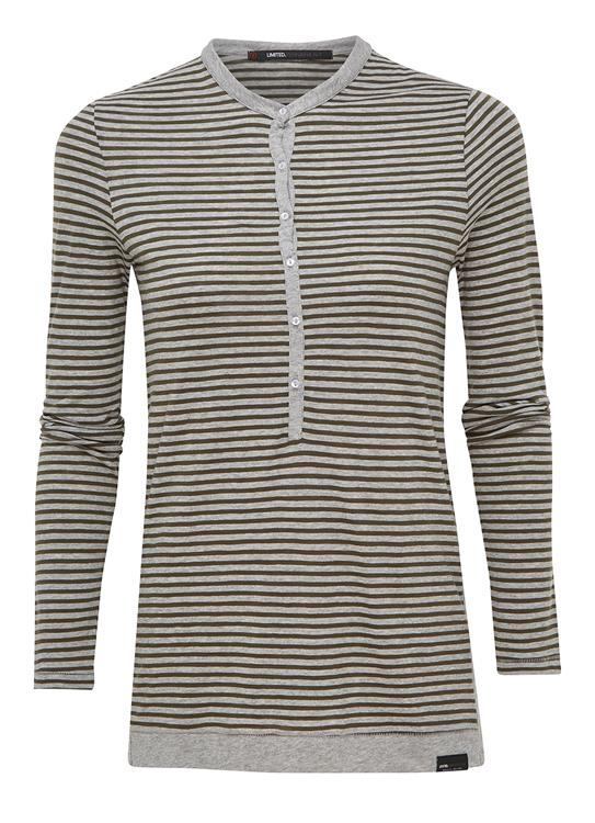 Penn & Ink T-Shirt LS Stripe W17T013LT