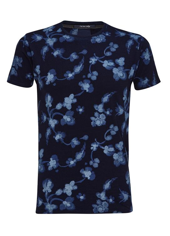 Amsterdams Blauw T-Shirt Allover Print