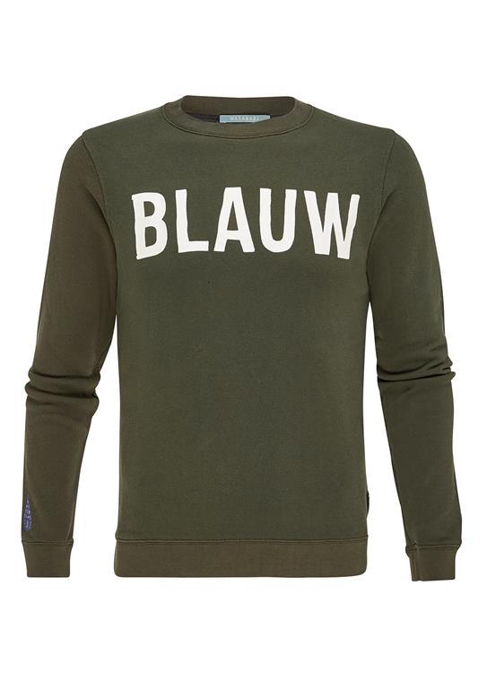 Amsterdams Blauw Sweater Classic Print Army