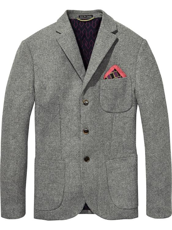 Quilted blazer in tweed wool quality