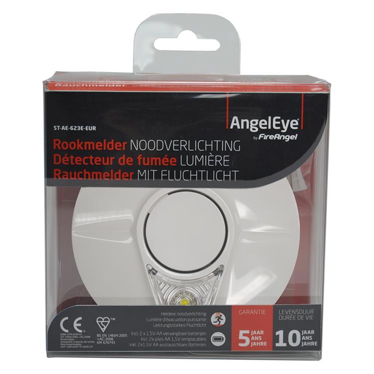 Angeleye rookmelder noodverlichting thermoptek 10 jaar 2xAA