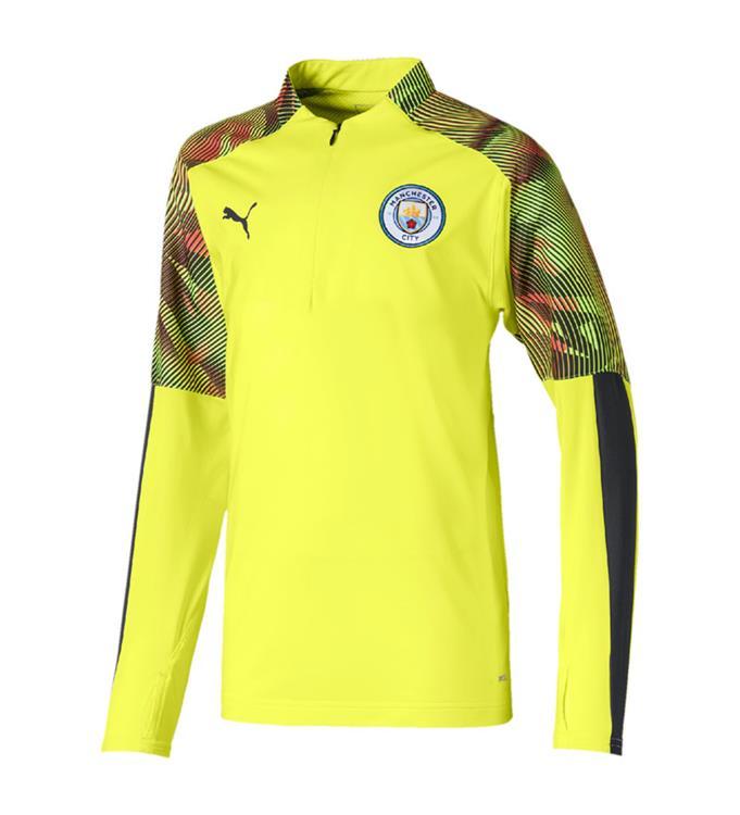 Puma Manchester City FC 1/4 Zip Training Top 2019/2020 Jr