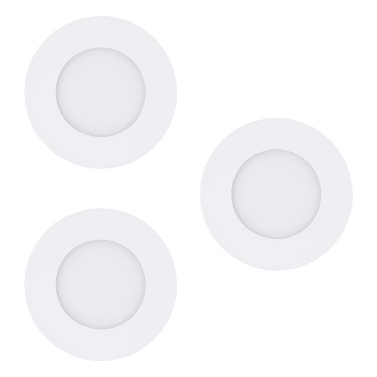 Led inbouwspot Fueva 3W wit 3 stuks