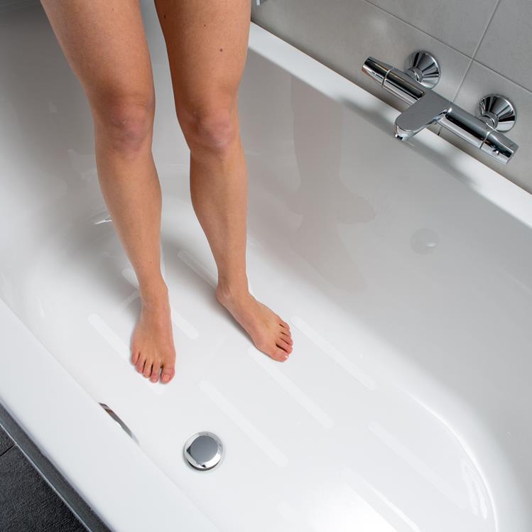 Anti Slip Sticker 25x245mm Wit Sanitair En Installatie