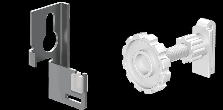 Plieger ophangset radiator v. lasstrippen
