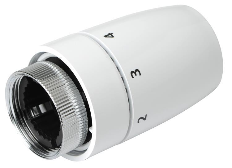 Plieger radiatorknop thermostatisch design M30x1,5 wit