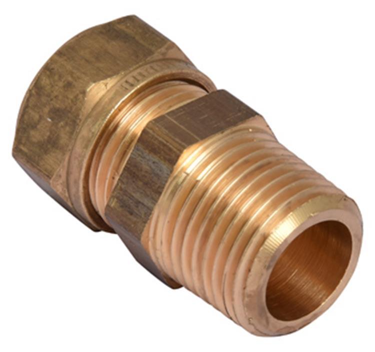 VSH knel puntstuk langedraad 3/8bu x 15mm conisch messing