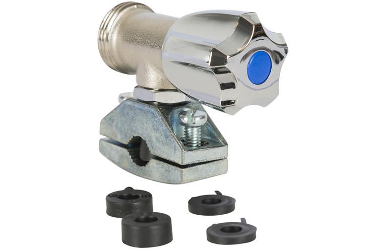 Plieger prikkraan chroom 12/15mm