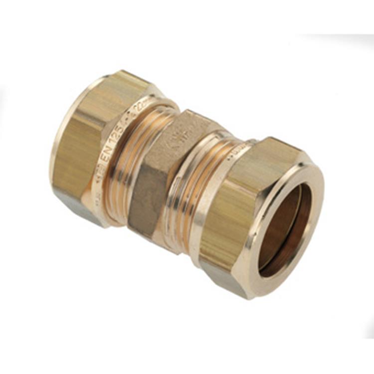 Plieger vernikkelde knelkoppeling 22x22mm