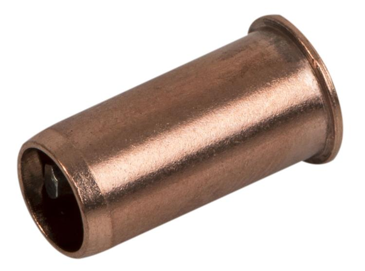Plieger roodkoperen steunhuls voor wicu buis 12x1.0mm