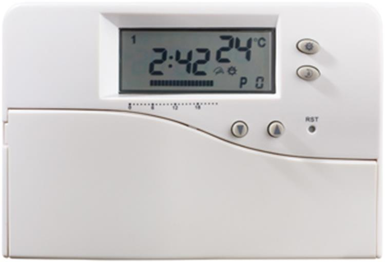 Plieger Milton klokthermostaat digitaal 24V