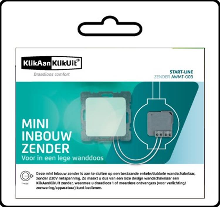 KlikAanKlikUit Ingebouwde Mini-Zender AWMT-003