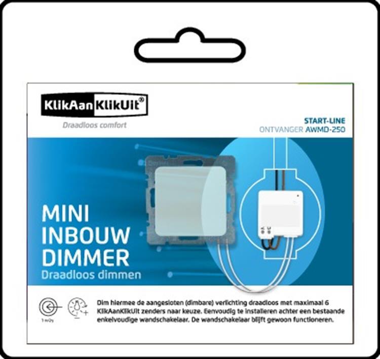 Klik aan Klik uit Inbouw Mini Dimmer AWMD-250