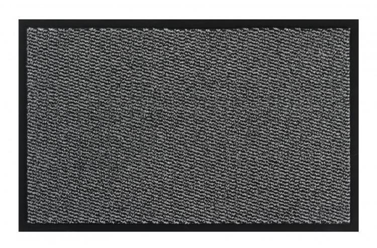 Schoonloopmat + rand 40x60 antraciet