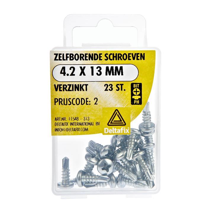 Zelfborende Schroeven Verzinkt 4.2X13 23 St