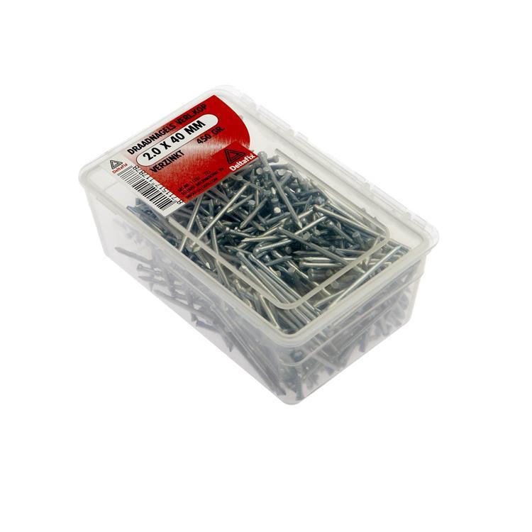 Draadnagels Verl.Kop Verzinkt 2.0X40 450 Gr