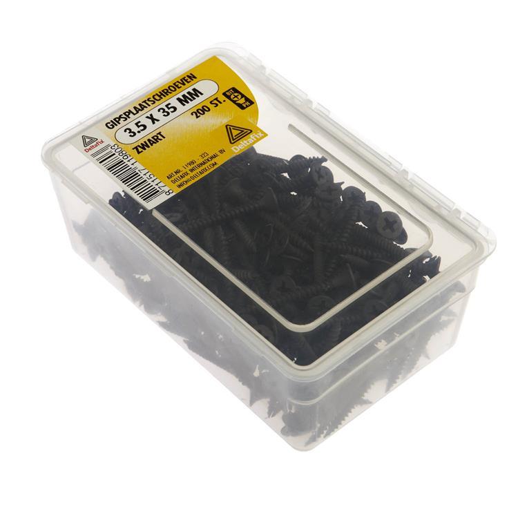 Gipsplaatschroeven Zwart 3.6X35 200 St