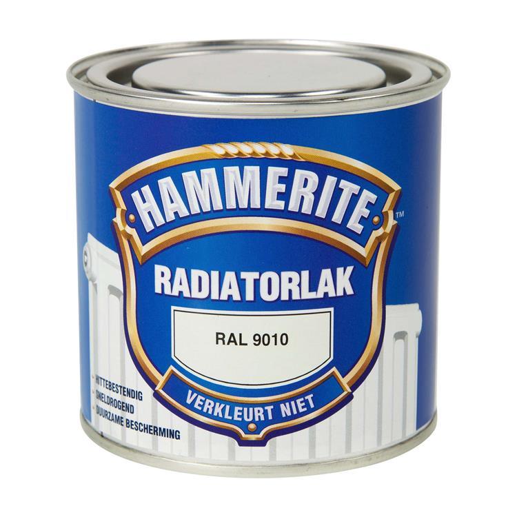 Hammerite Radiatorlak Kleurvast Ral9010 250 Ml