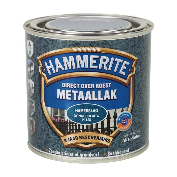 Hammerite Hamerslag Donkerblauw H128 250 Ml