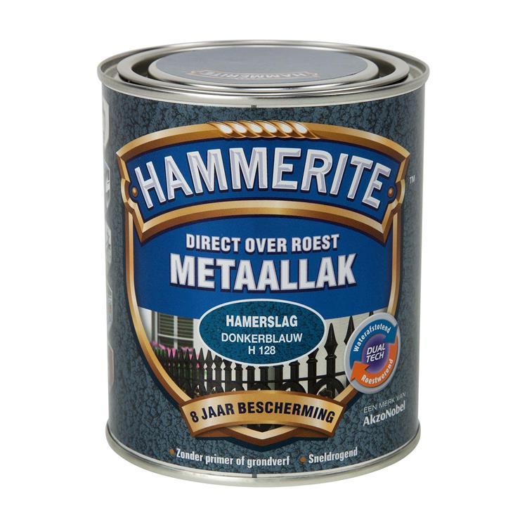 Hammerite Hamerslag Donkerblauw H128 750 Ml