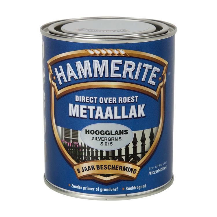 Hammerite Hoogglans Zilvergrijs S015 750 Ml