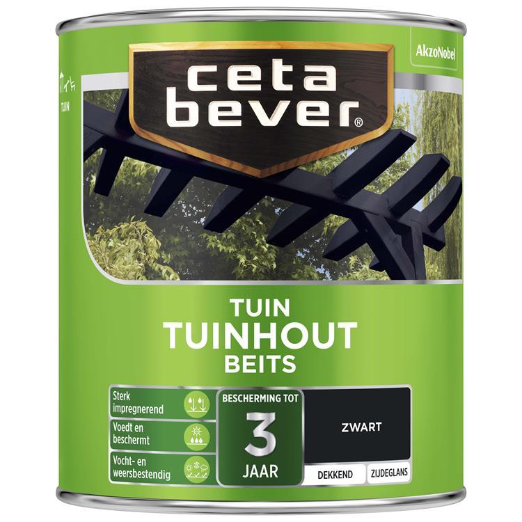Cetabever dekkende tuinhoutbeits zwart 750 ml