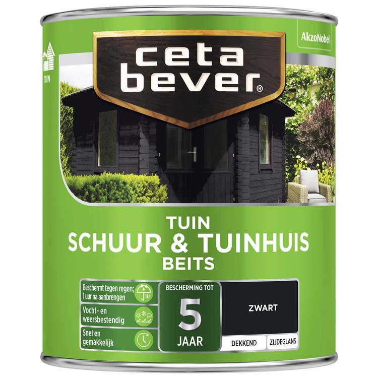 Cetabever Dekkend Schuur- & Tuinhuis Beits Zwart 750 Ml