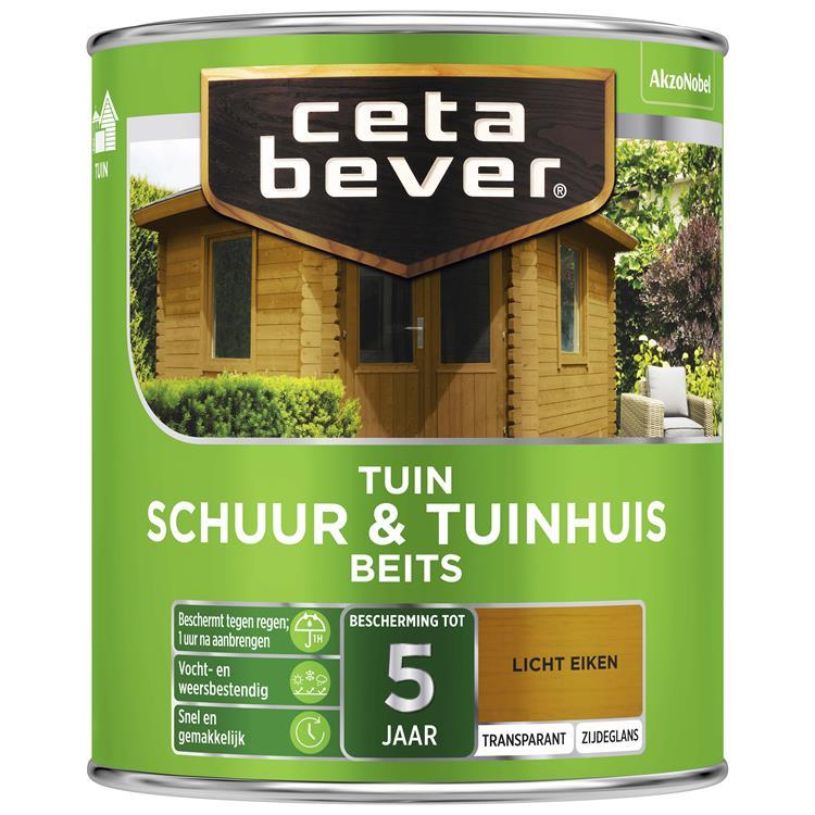 Cetabever Transparant Schuur- & Tuinhuis Beits 006 Licht Eiken 750 Ml