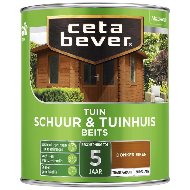 Cetabever Transparant Schuur- & Tuinhuis Beits 009 Donker Eiken 750 Ml