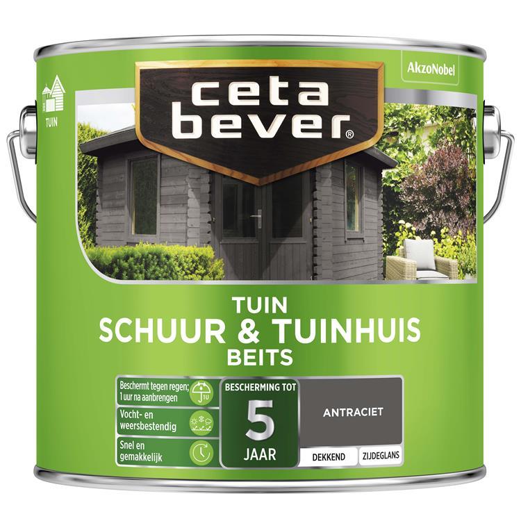 Cetabever Dekkend Schuur- & Tuinhuis Antraciet 2,5 L