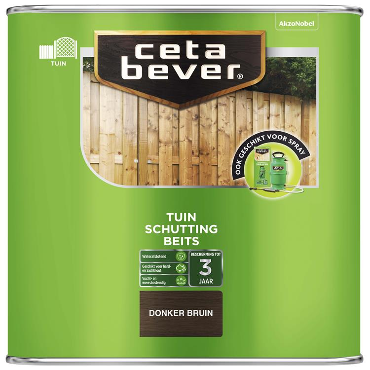 Cetabever Schuttingbeits Donker Bruin 2,5 L