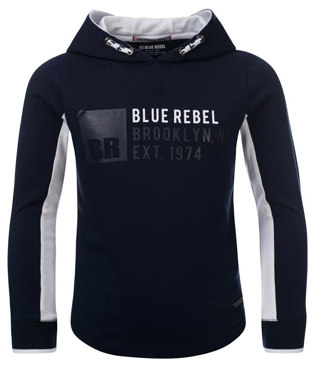 Blue Rebel - T-shirt hooded - Navy - dudes