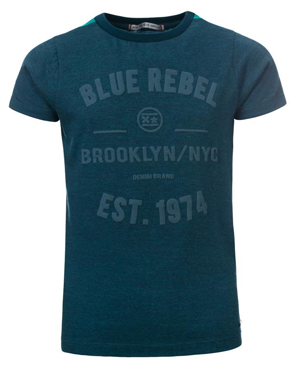 Blue Rebel - T-shirt space yarn - storm - dudes