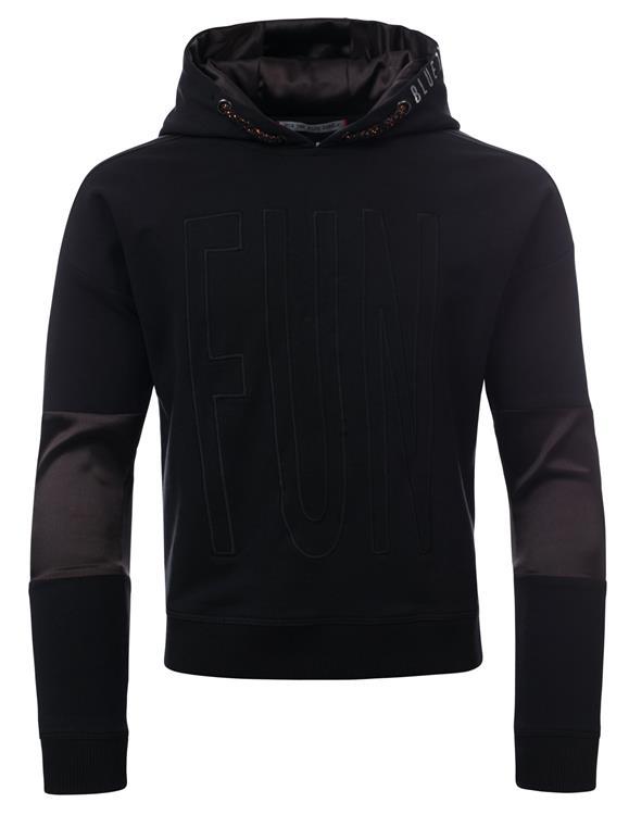 Blue Rebel - hooded sweater - Black - betties