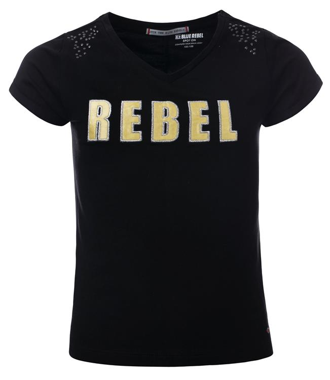 Blue Rebel - T-shirt - Black - betties