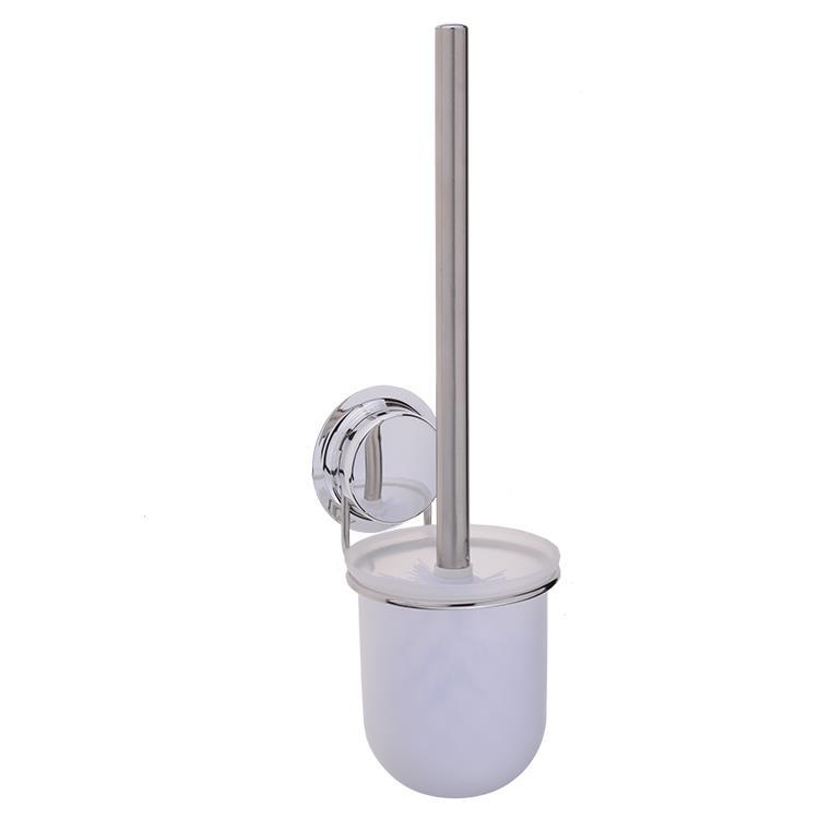 Elementals toiletborstel met houder Suction chroom metaal