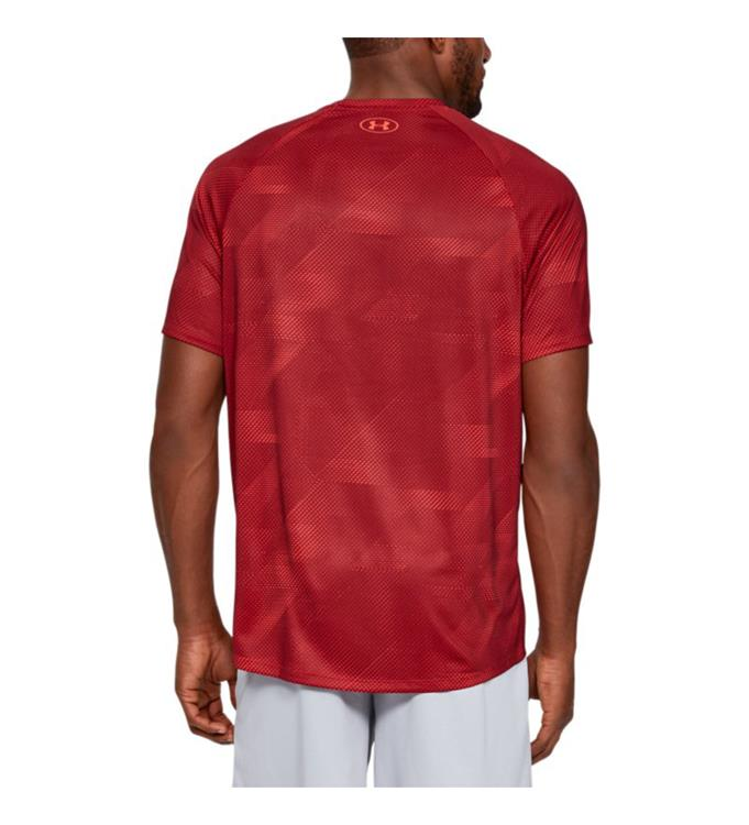 Under Armour UA Tech 2.0 SS Printed-RED T-Shirt