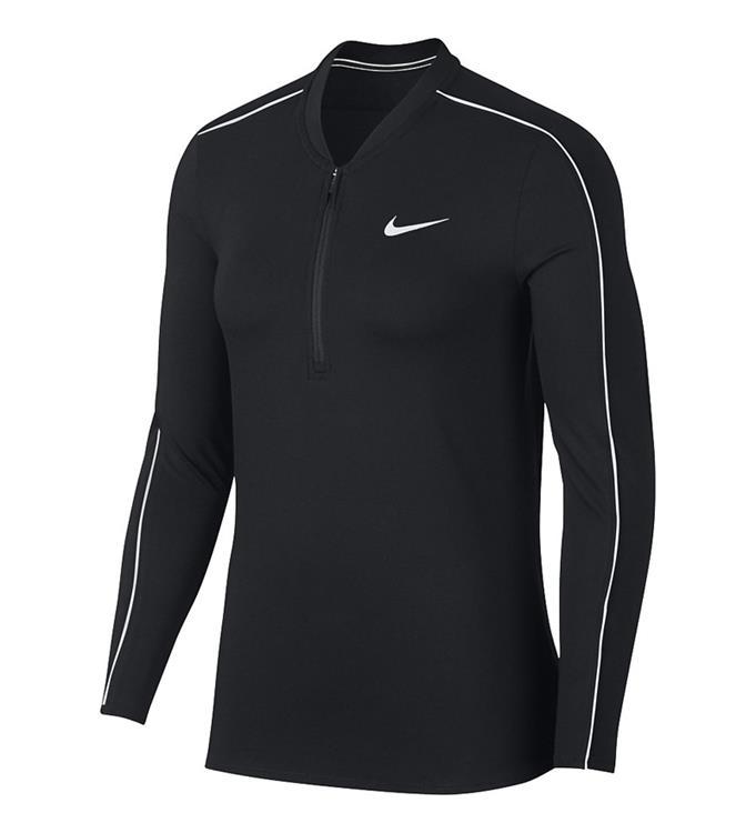 NikeCourt Dry Women's 1/2-Zip,BLAC