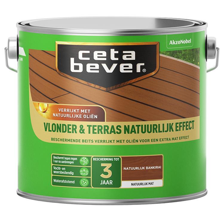 Cetabever Vlonder & Terrasbeits Natuurlijk Effect Bankirai 2,5L