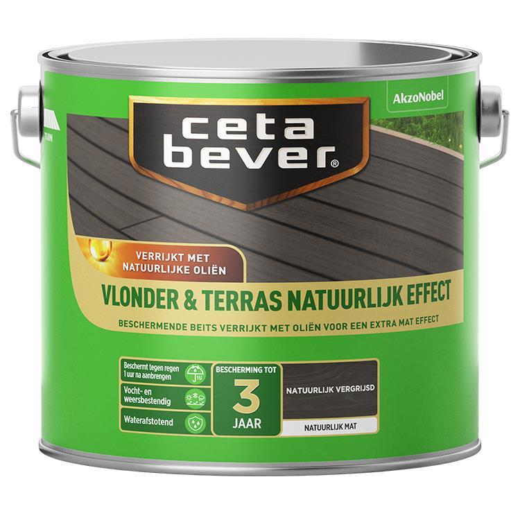 Cetabever Vlonder & Terrasbeits Natuurlijk Effect Vergrijsd 2,5L