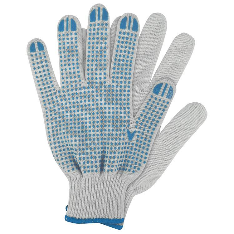 Werkhandschoenen katoen blauw maat M