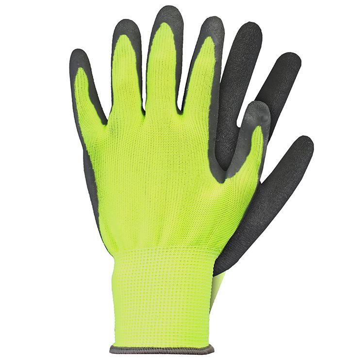 Werkhandschoenen latex geel maat M