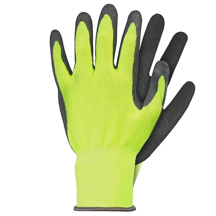 Werkhandschoenen latex geel maat S