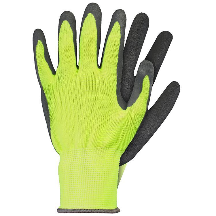 Werkhandschoenen latex geel maat XL