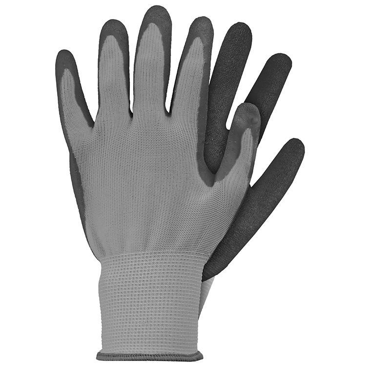 Werkhandschoenen latex grijs maat S