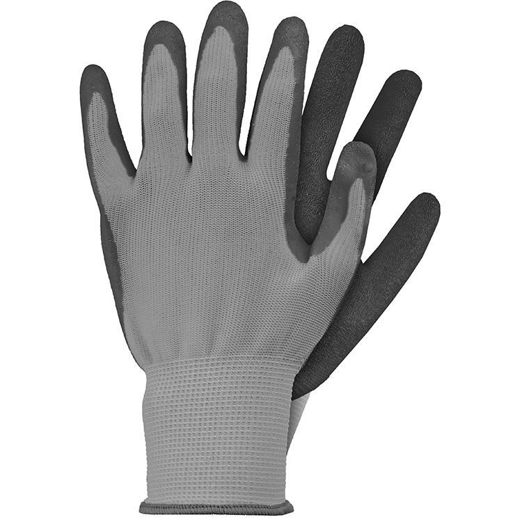 Werkhandschoenen latex grijs maat XL