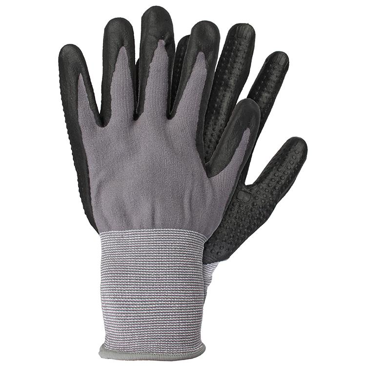 Werkhandschoenen nitrile zwart maat L