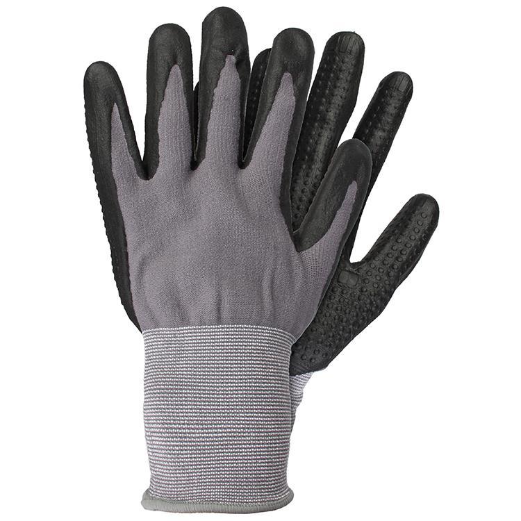 Werkhandschoenen nitrile zwart maat M