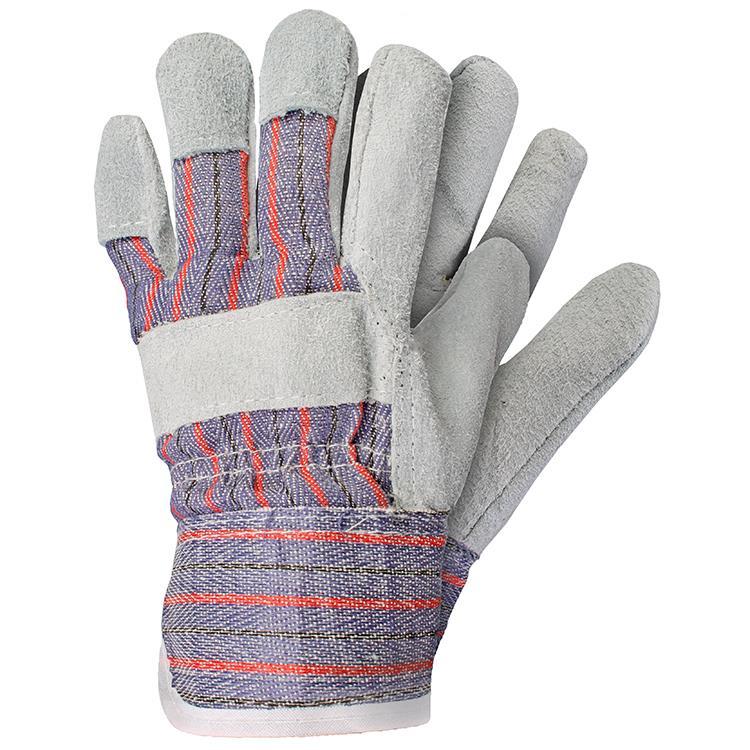 Werkhandschoenen rundersplitleer maat M